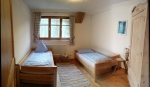double bedroom with separated beds